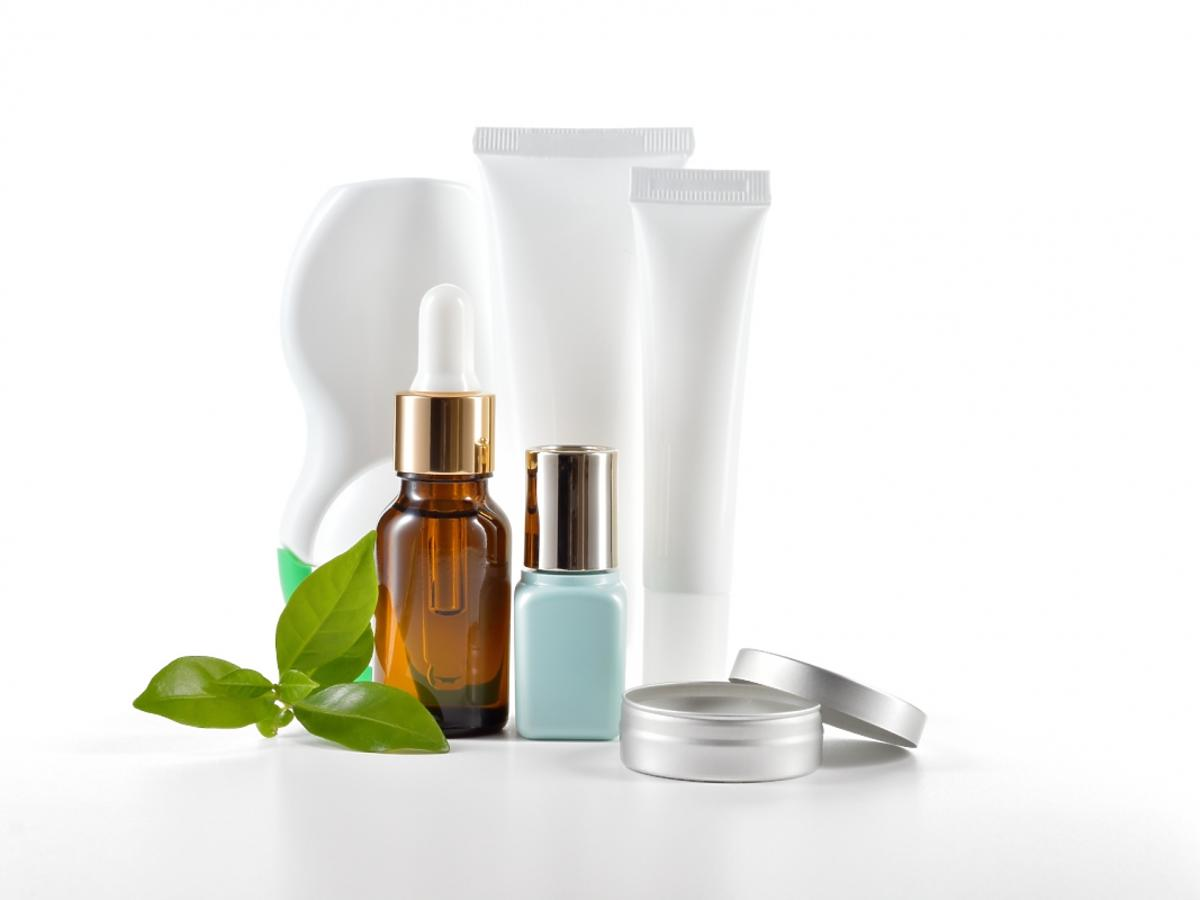 Butelki kosmetyków