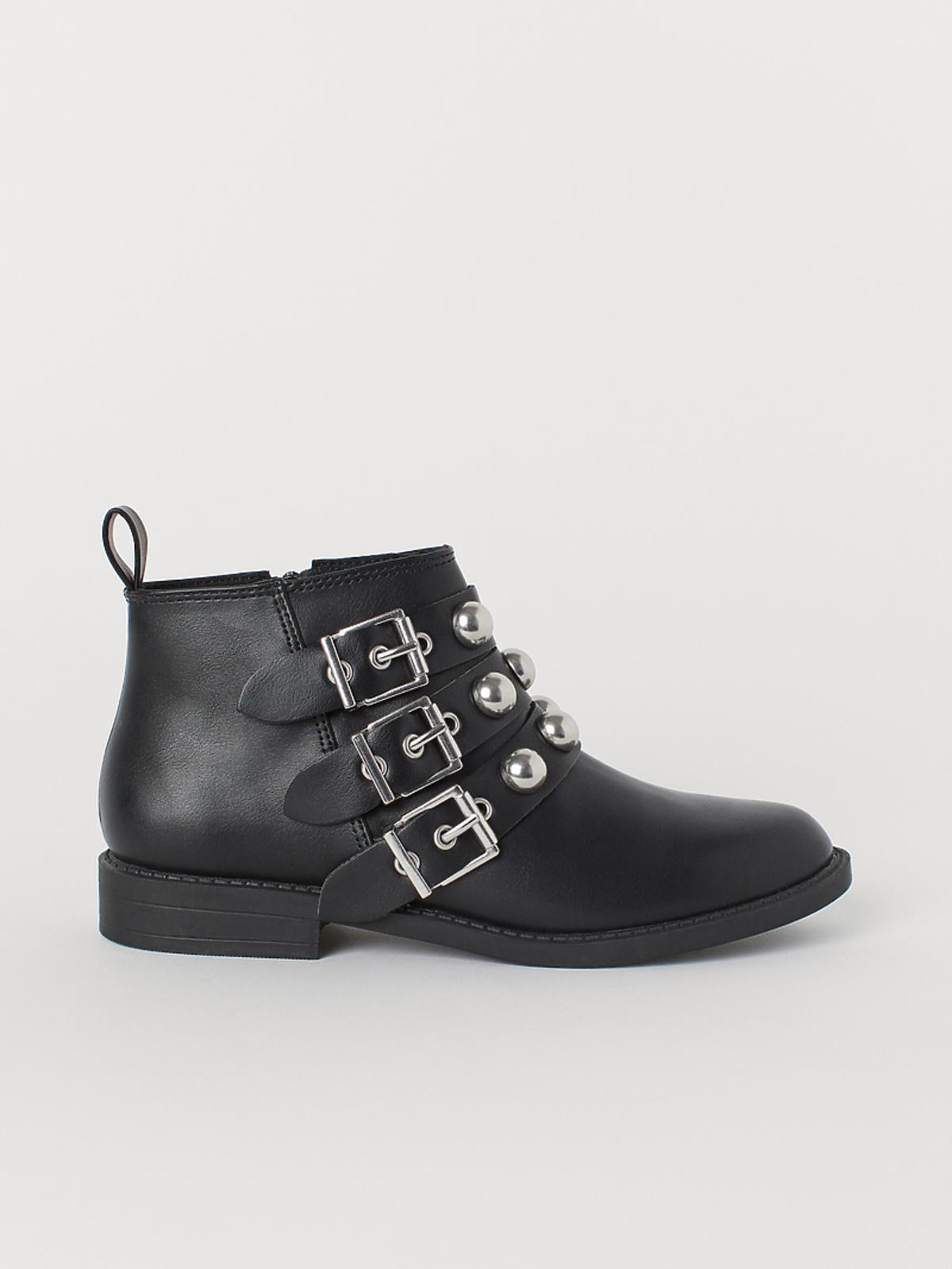 buty rockowe z klamrami H&M
