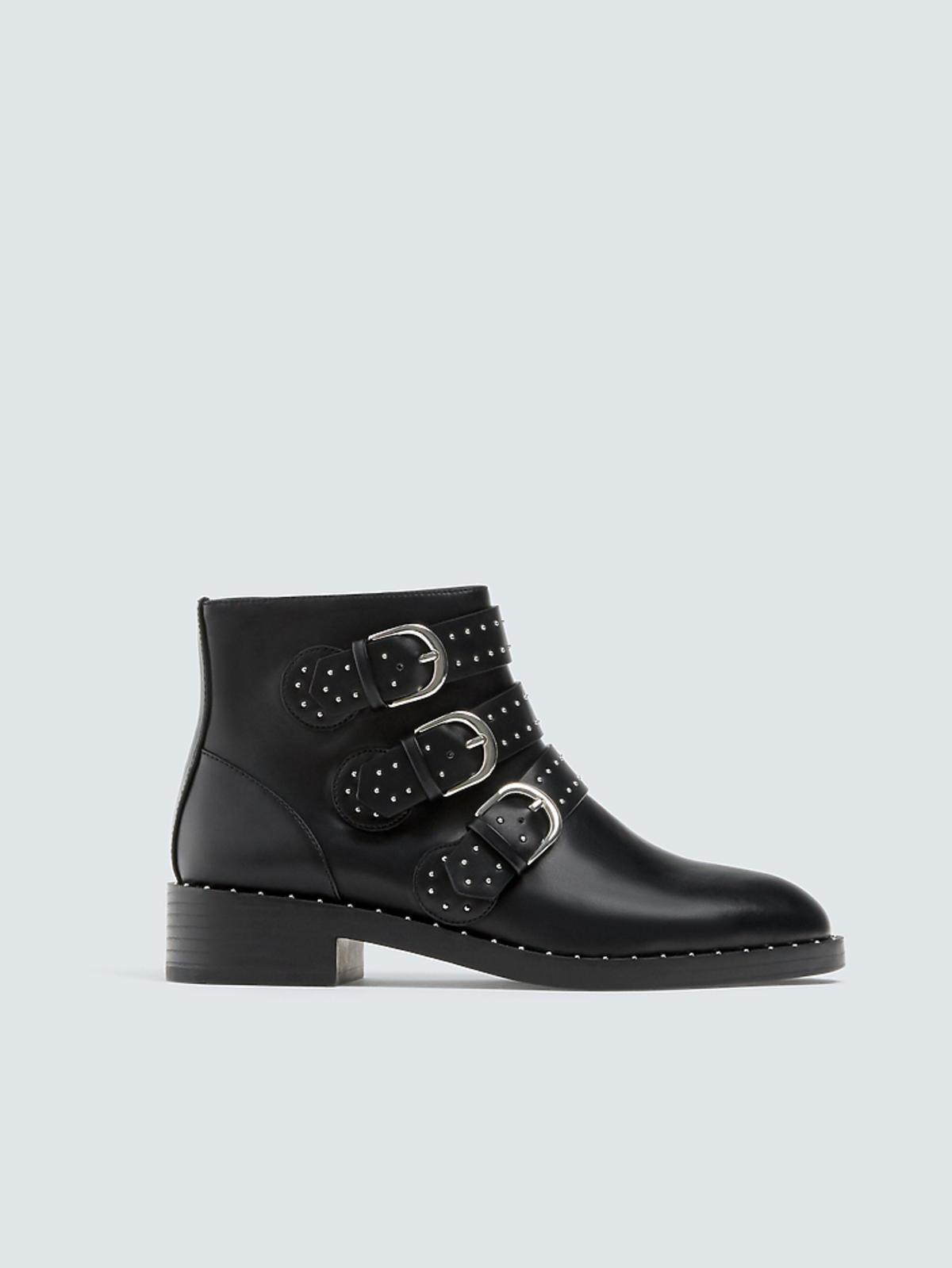 buty rockowe z klamrami Pull&Bear