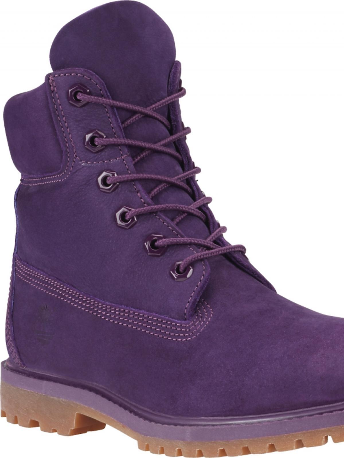 buty trapery w kolorze fioletowym