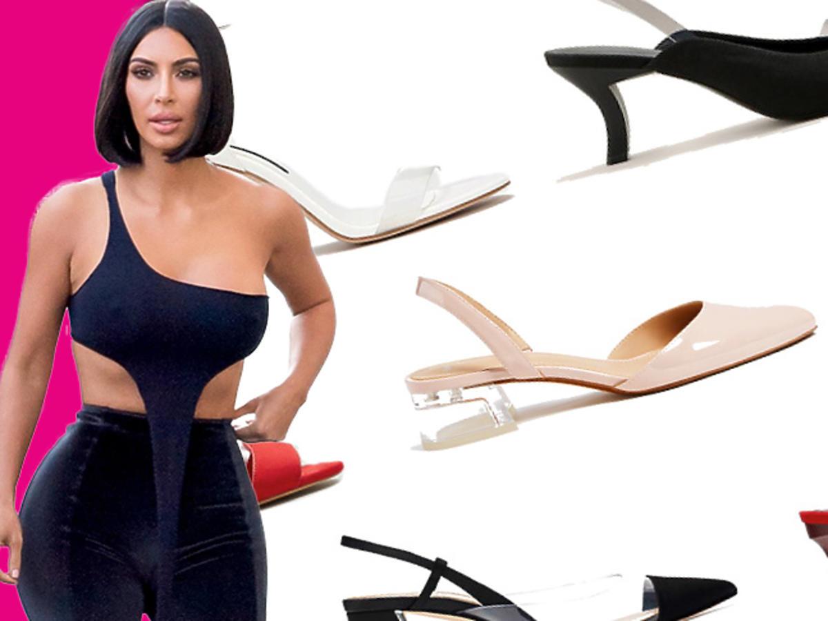 Buty z plastiku w stylu Kim Kardashian