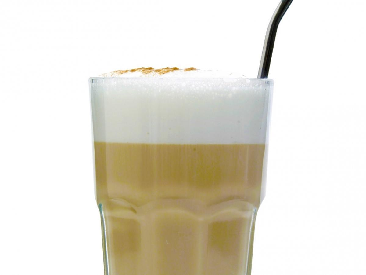 Caffe Latte w szklance