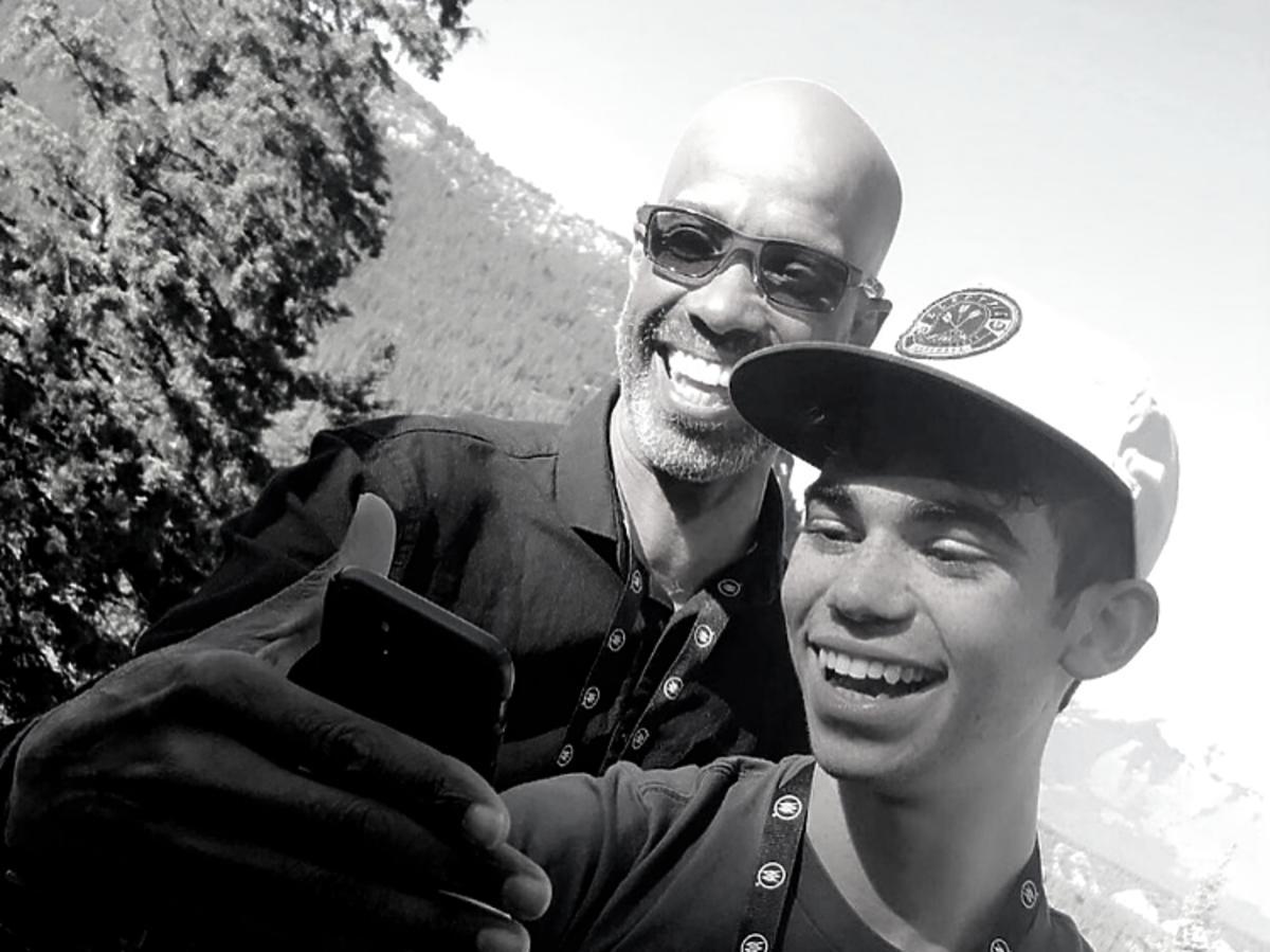 cameron Boyce z tatą