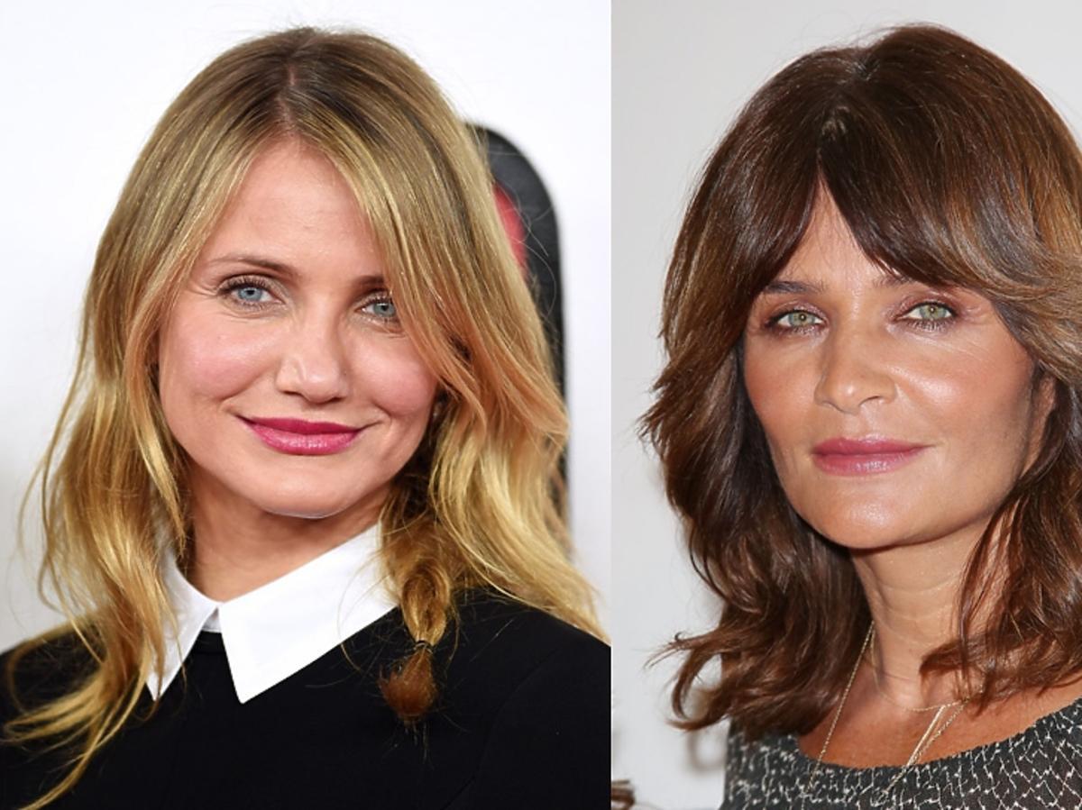 Cameron Diaz i Helena Christensen dwa portrety pokazujace, że są do siebie podobne