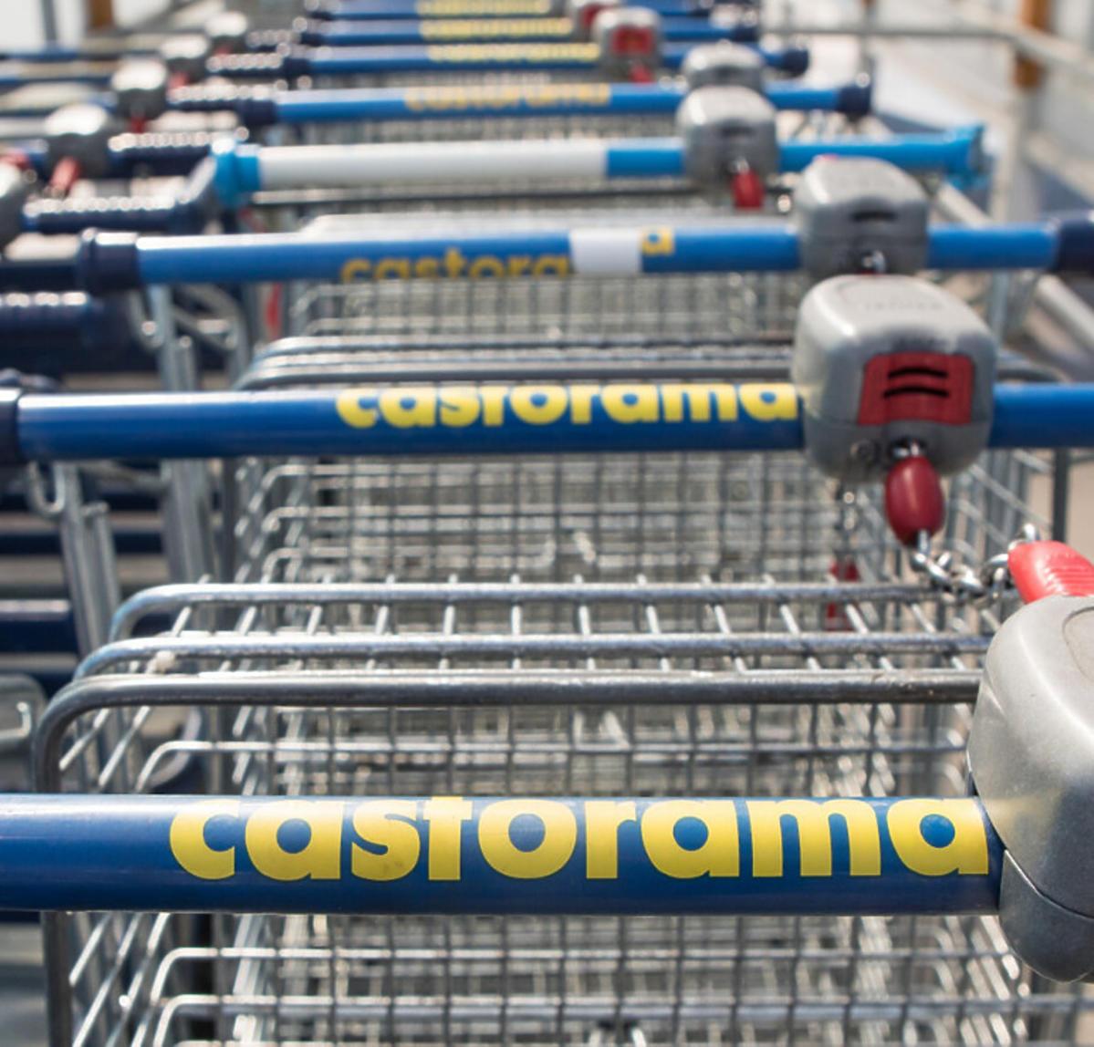 Castorama- wózki sklepowe