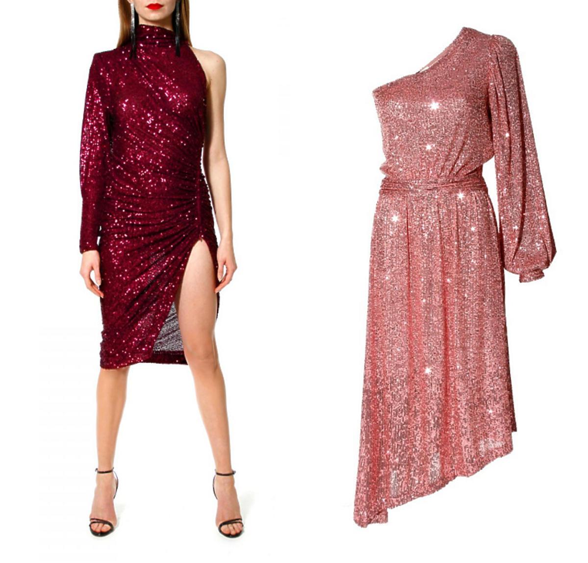 cekinowa sukienka midi