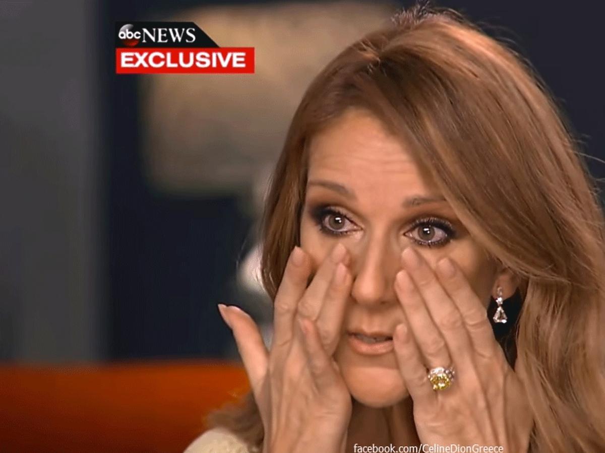 Celine Dion płacze w telewizji