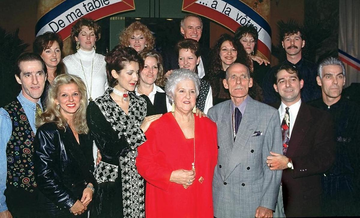 Celine Dion z cała swoją rodziną