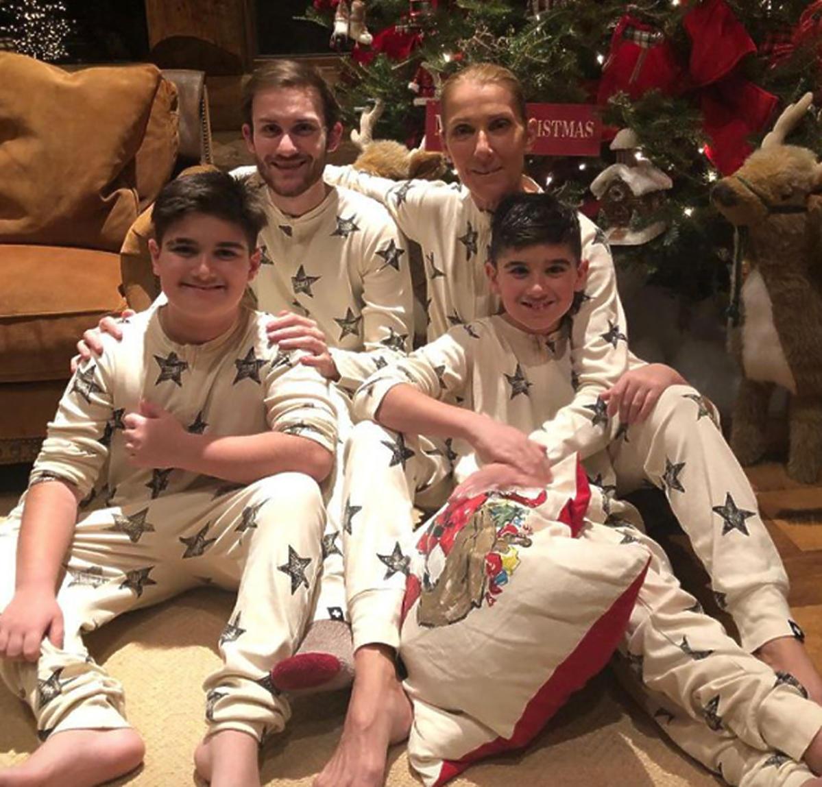 Celine Dion z dziećmi