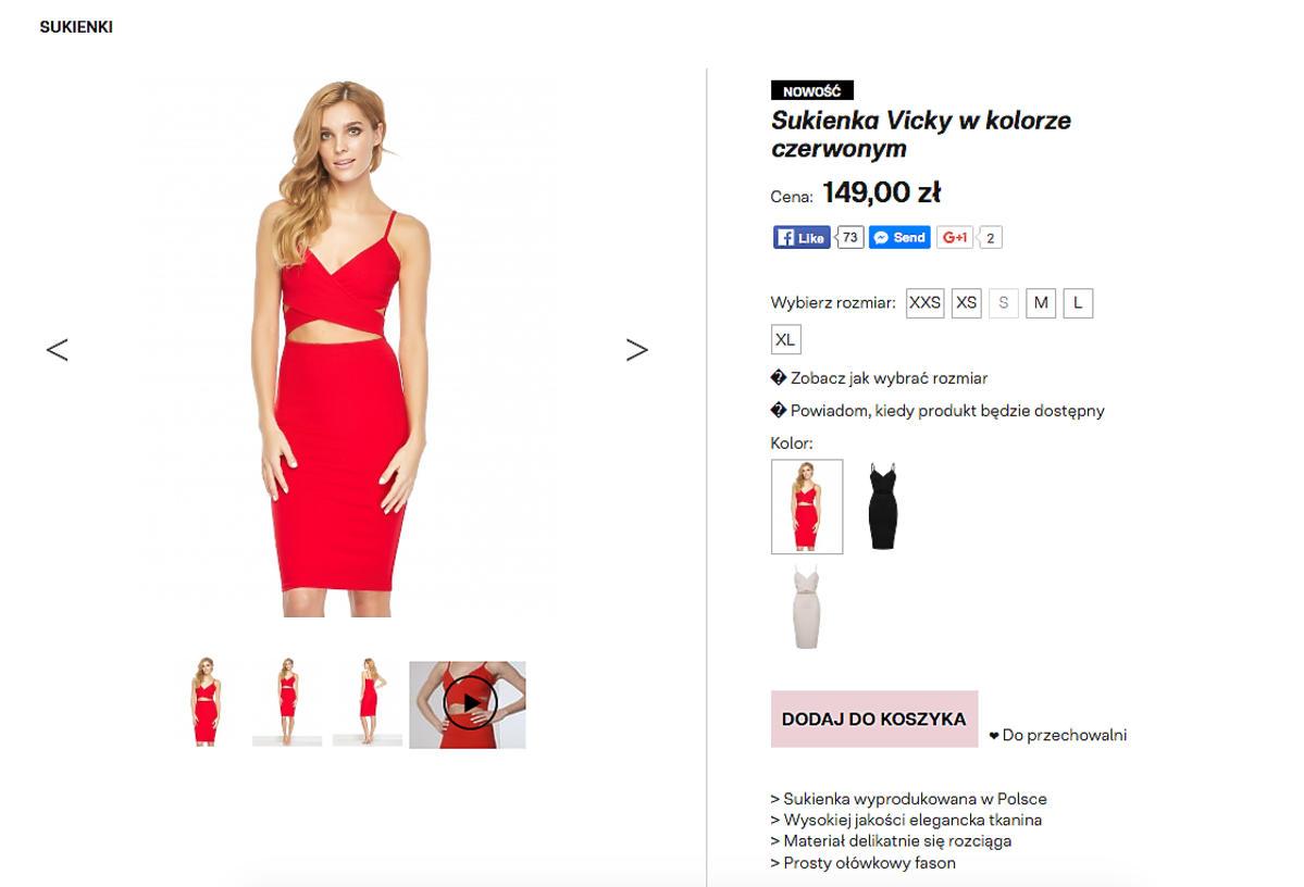 Cena sukienki Anny Lewandowskiej