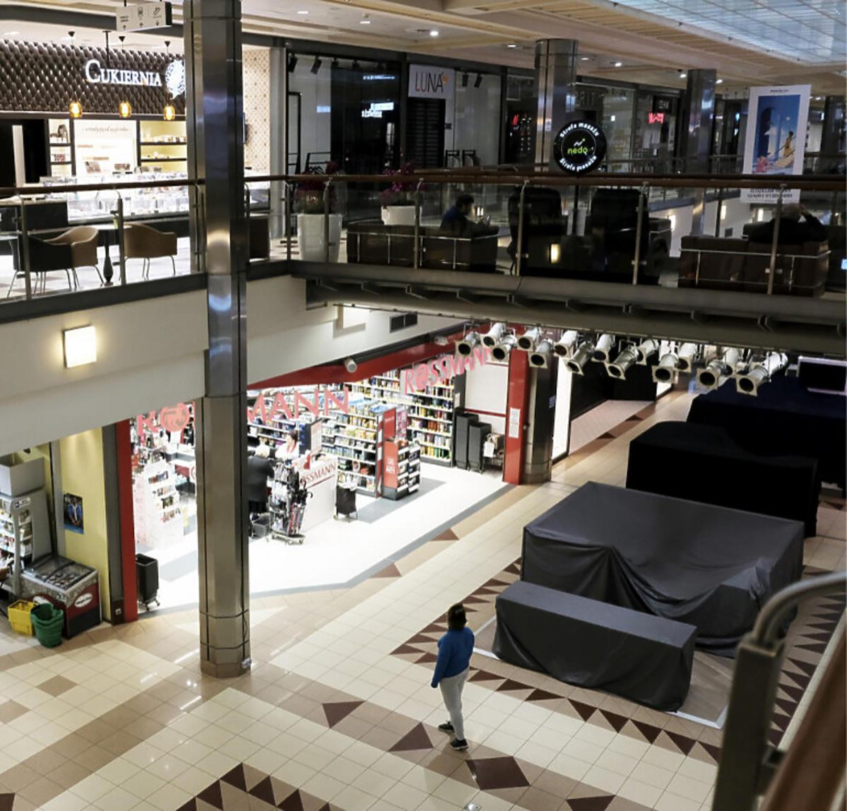 Centrum handlowe zamknięte przez koronawirusa