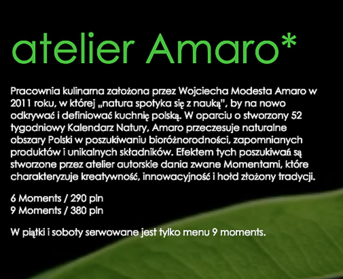 Ceny w restauracji Wojciecha Modesta Amaro