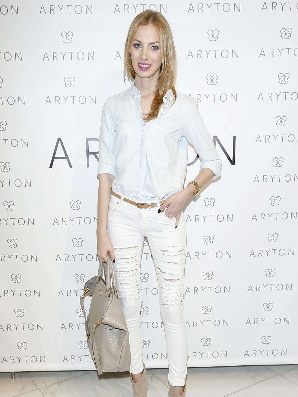 Charlize Mystery na pokazie nowej kolekcji marki Aryton