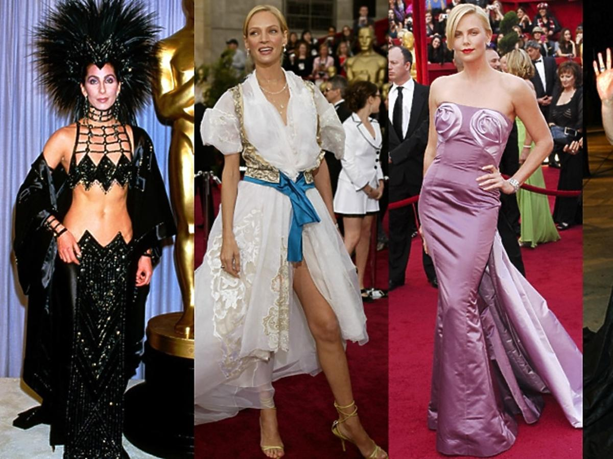 Cher, Uma Thurman, Charlize Theron, Gwyneth Paltrow na Oscarach