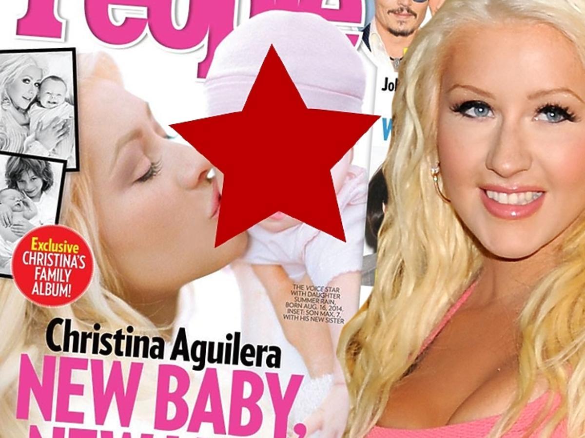 Chirstina Aguilera z dzieckiem na okładce People