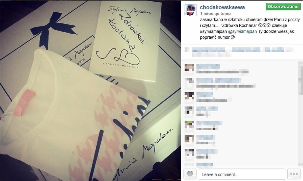 Chodakowska dostała prezent od Sylwii Majdan