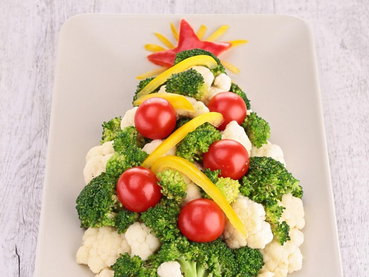 Choinka z warzyw
