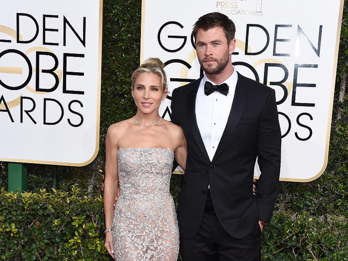 Chris Hemsworth i Elsa Pataky na rozdaniu Złotych Globów