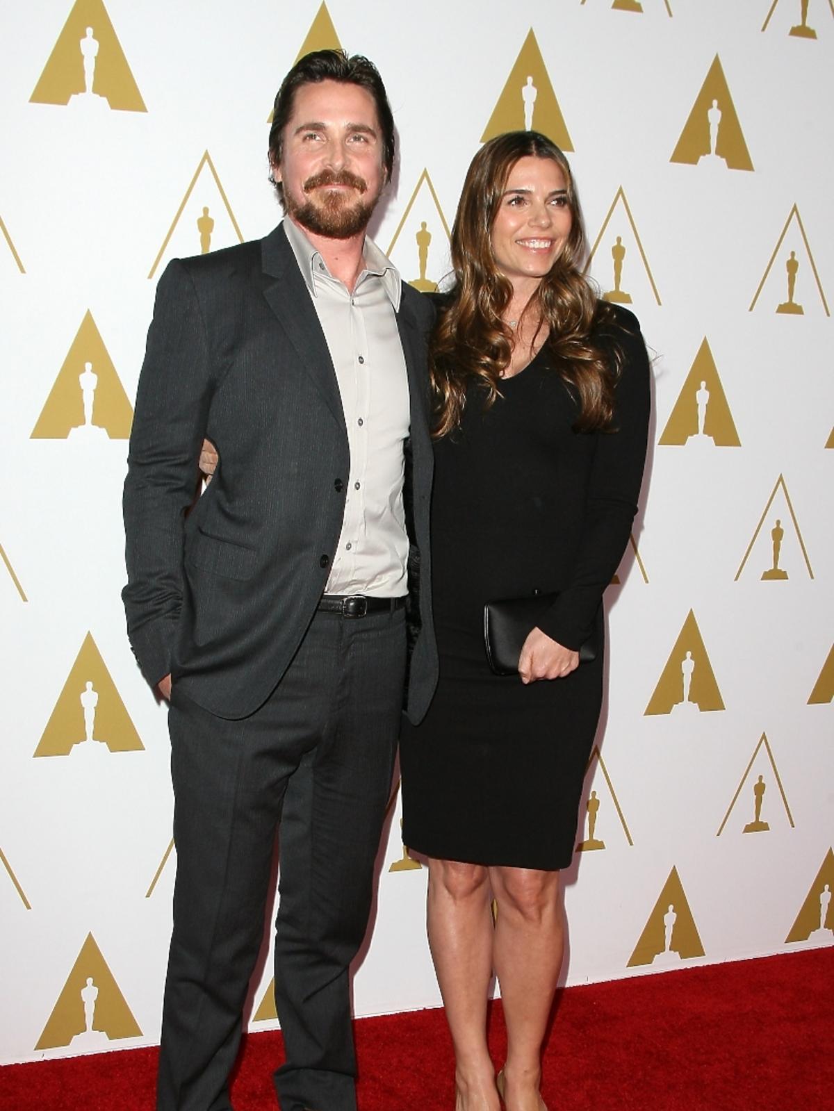 Christian Bale i Sibi Blazic podczas konferencji prasowej nominacji do Oscarów 2014