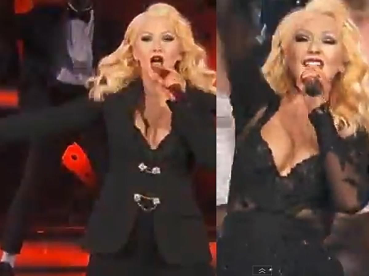 Christina Aguilera podczas NBA All Star Games