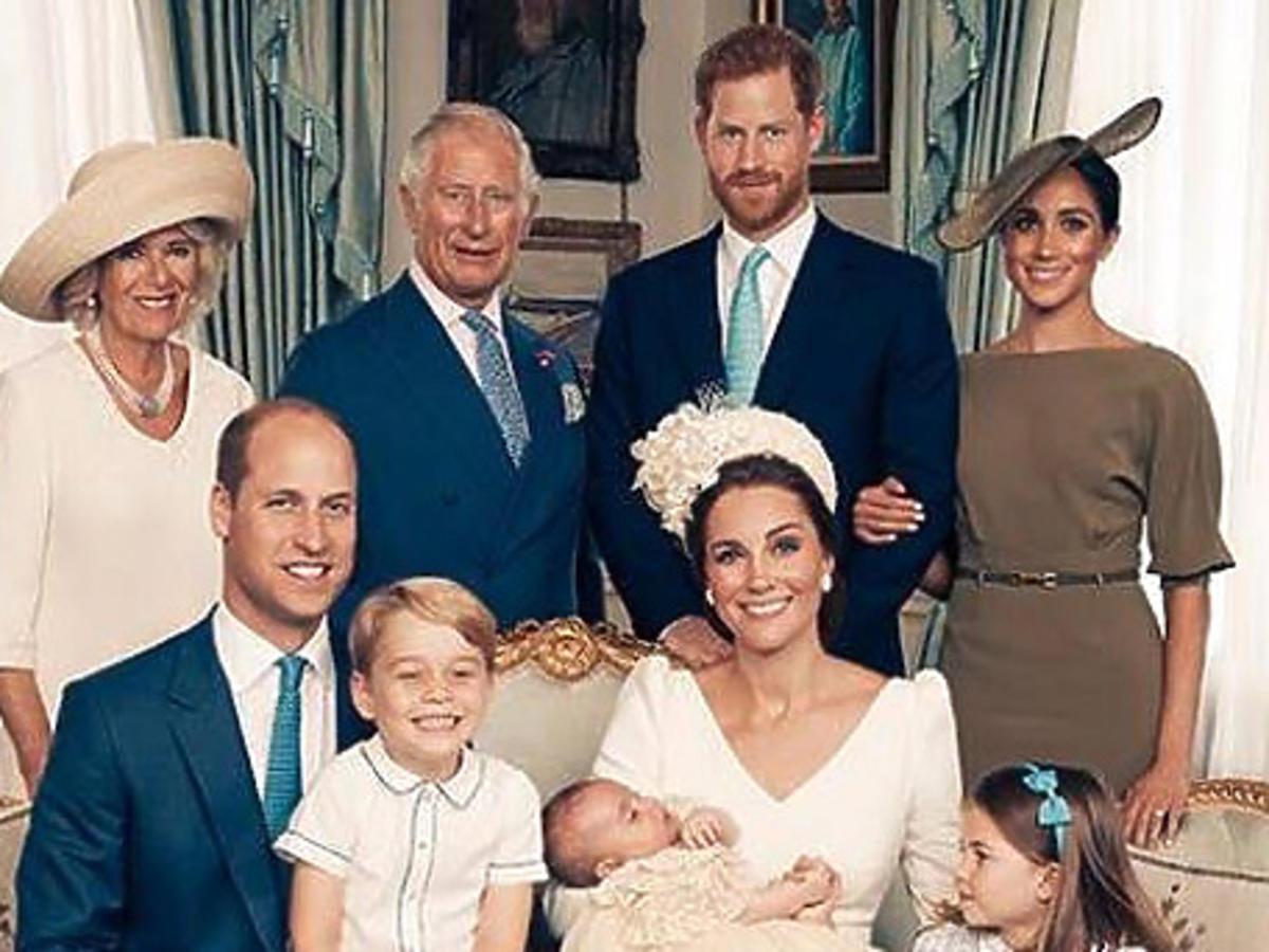 Chrzciny księcia Louisa - rodzinne zdjęcie