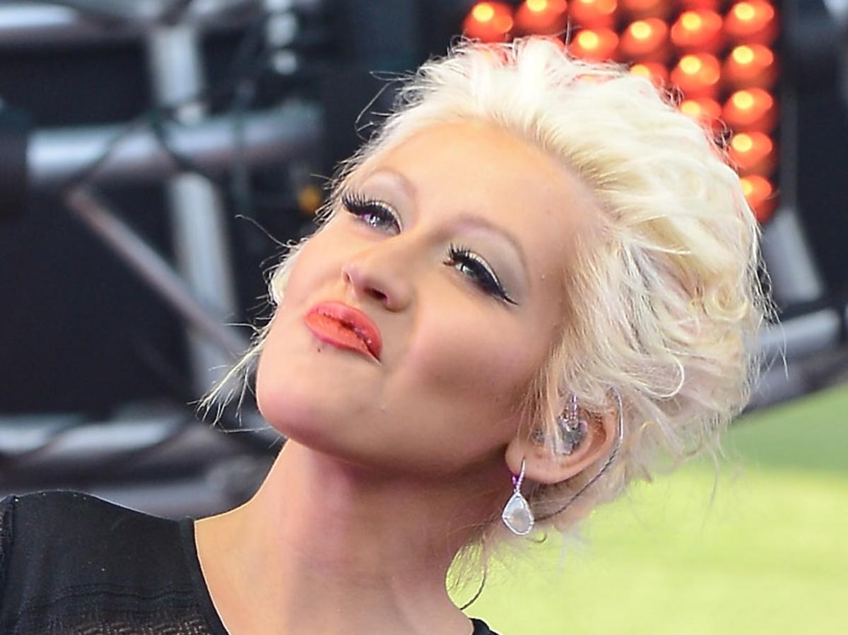 Ciężarna Christina Aguilera na Wango Tango Show w Los Angeles