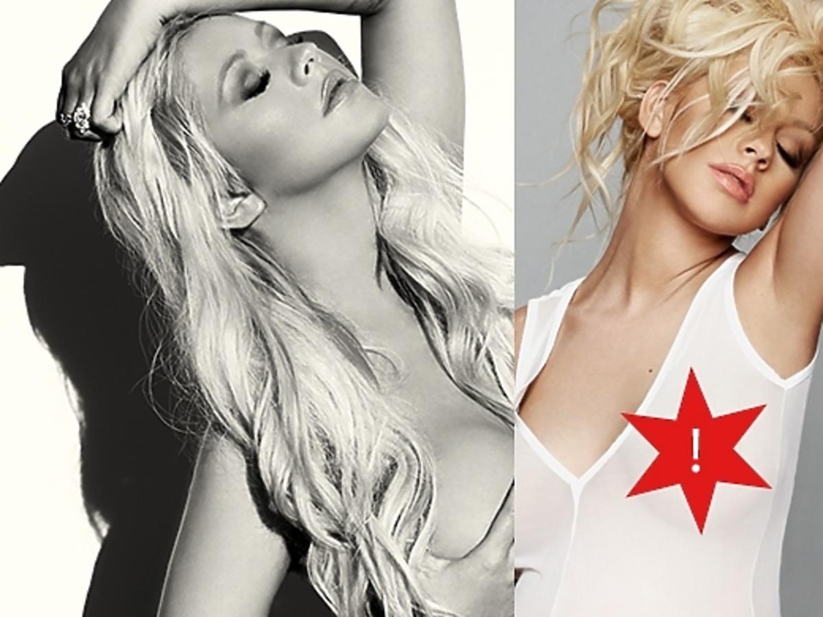 Ciężarna Christina Aguilera nago dla V Magazine