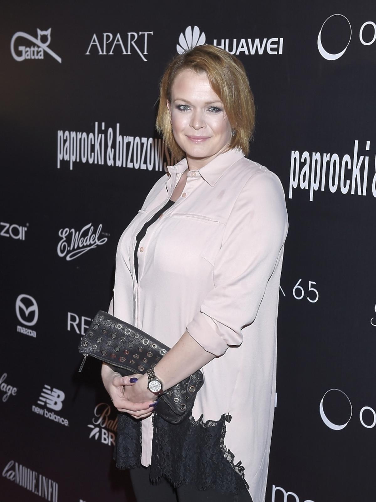 Ciężarna Daria Widawska na pokazie duetu Paprocki& Brzozowski