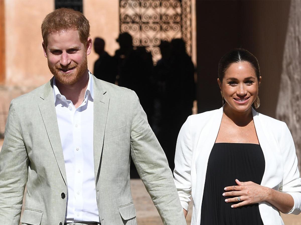 Ciężarna Meghan Markle i książę Harry podczas podróży do Maroka