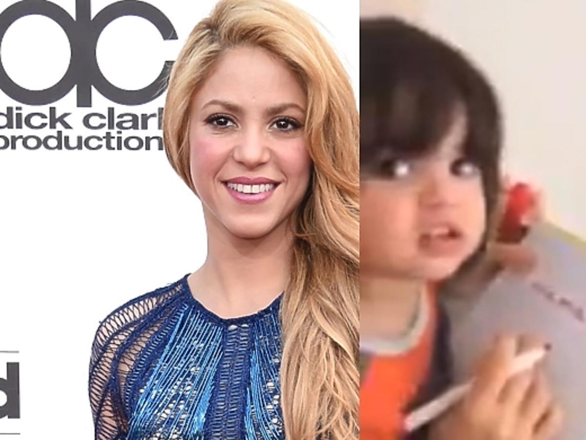Ciężarna Shakira uczy syna czytać