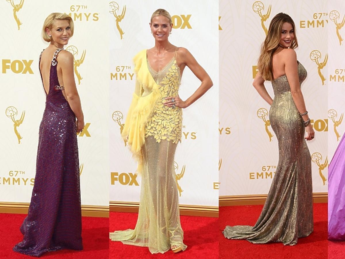 Claire Danes, Heidi Klum, Sophia Vergara, Maggie Gyllenhaa w sukienkach na czerwonym dywanie