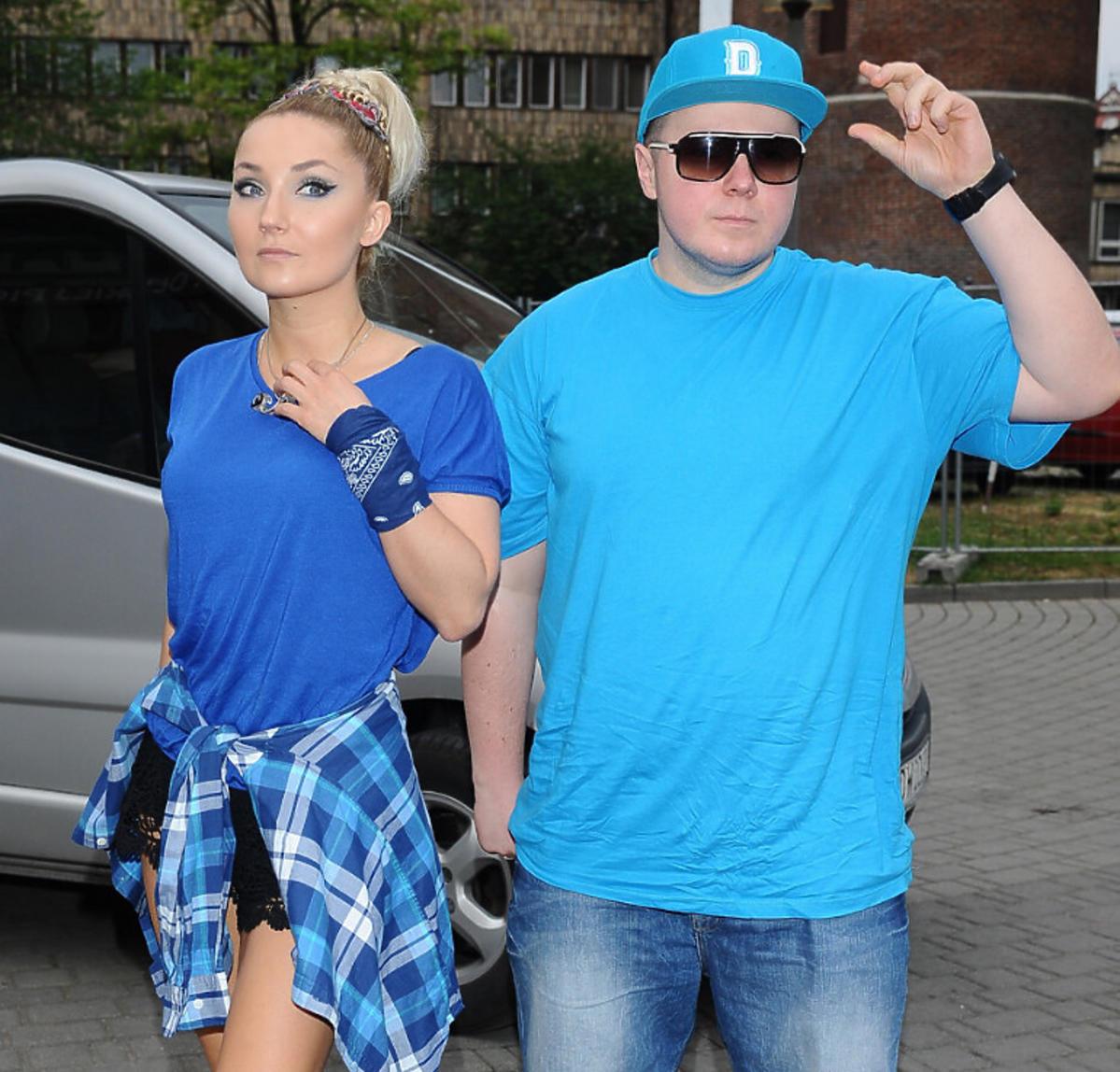 Cleo i Donatan w niebieskich stylizacjach