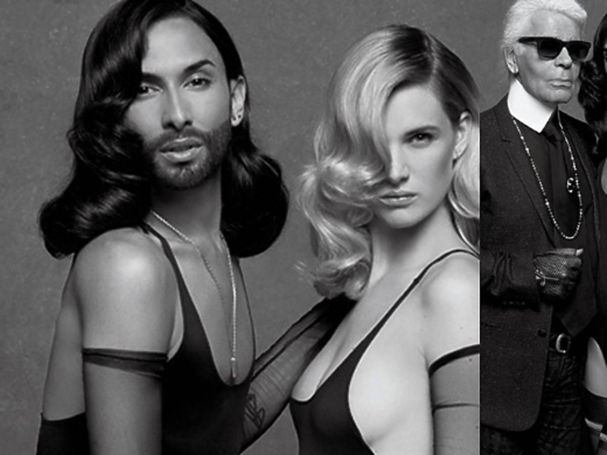 Conchita Wurst na zdjęciach Karla Lagerfelda