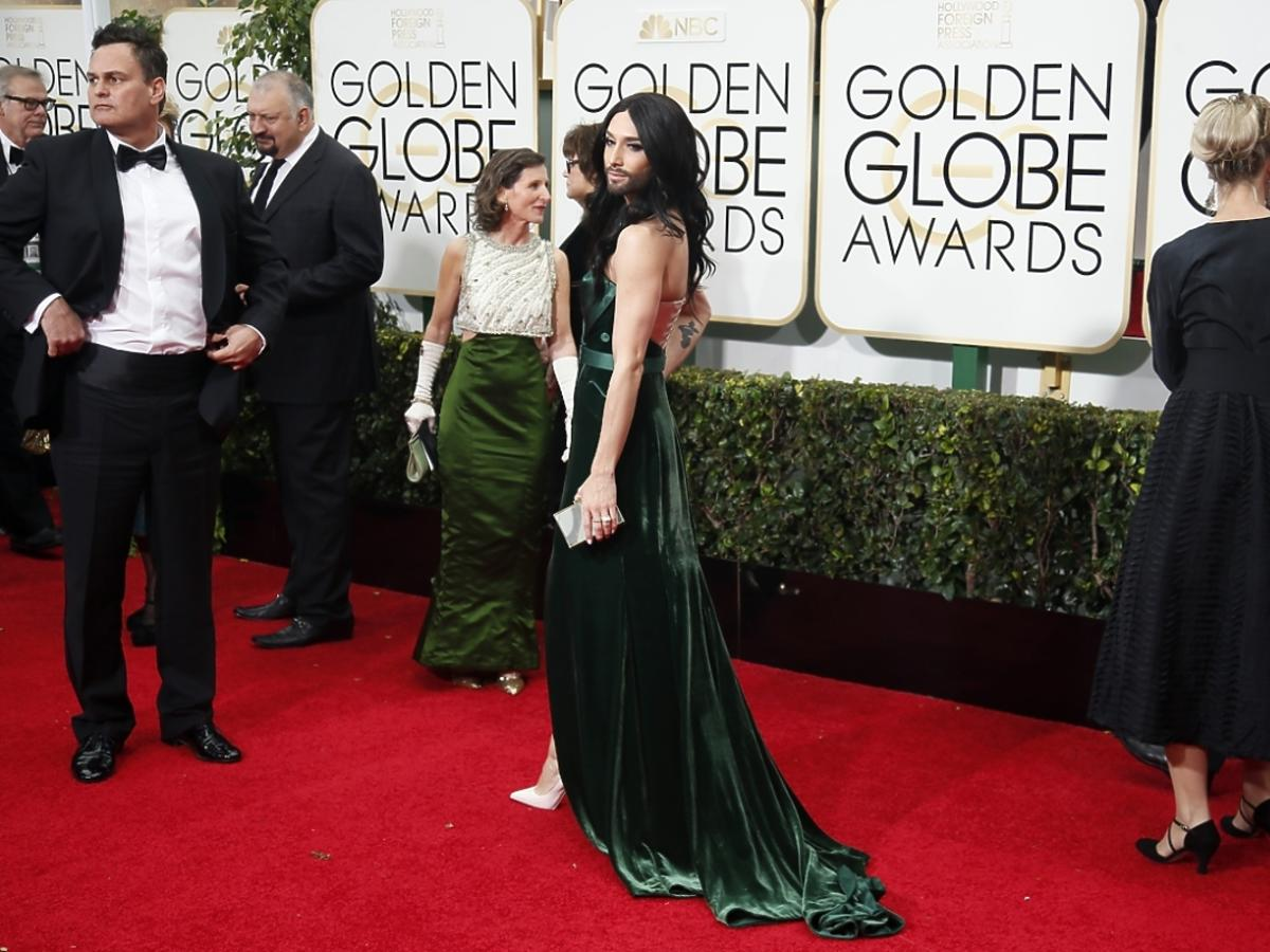 Conchita Wurst na Złotych Globach 2015