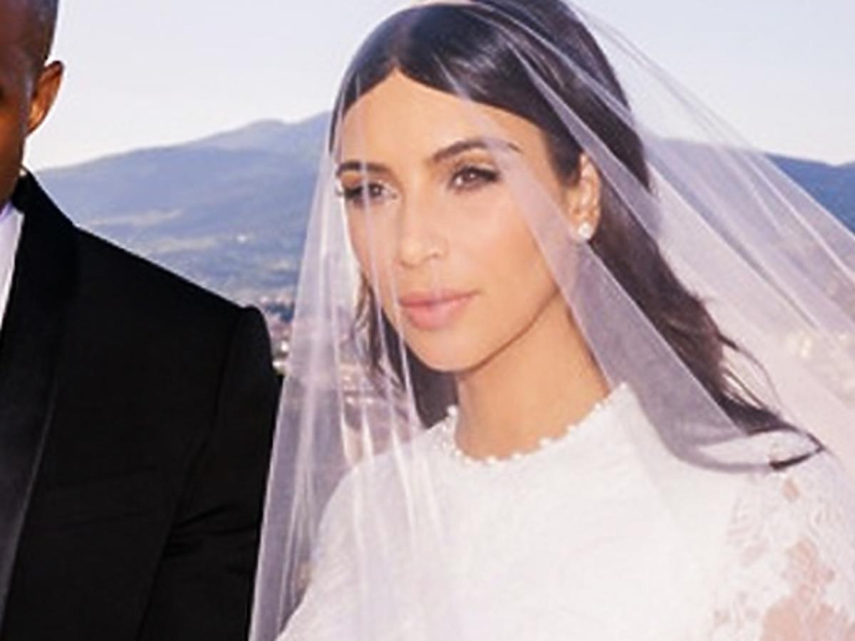 Córka Kim Kardashian na jej ślubie