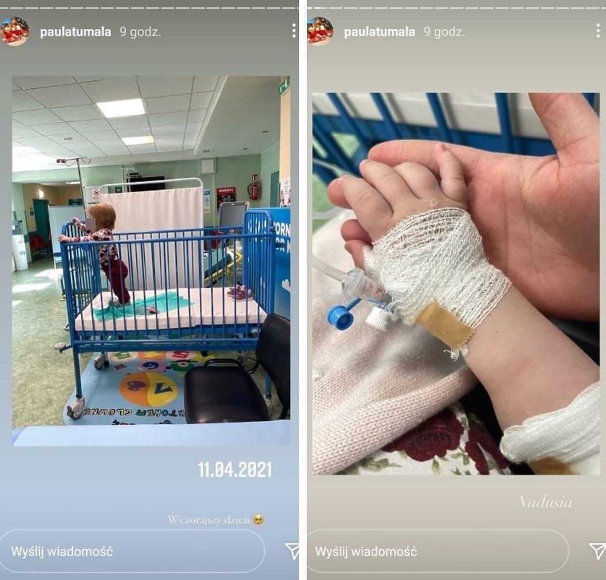 Córka Pauli Tumali w szpitalu