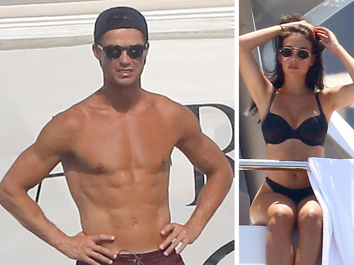 Cristiano Ronaldo i Georgina Rodriguez na wakacjach na jachcie
