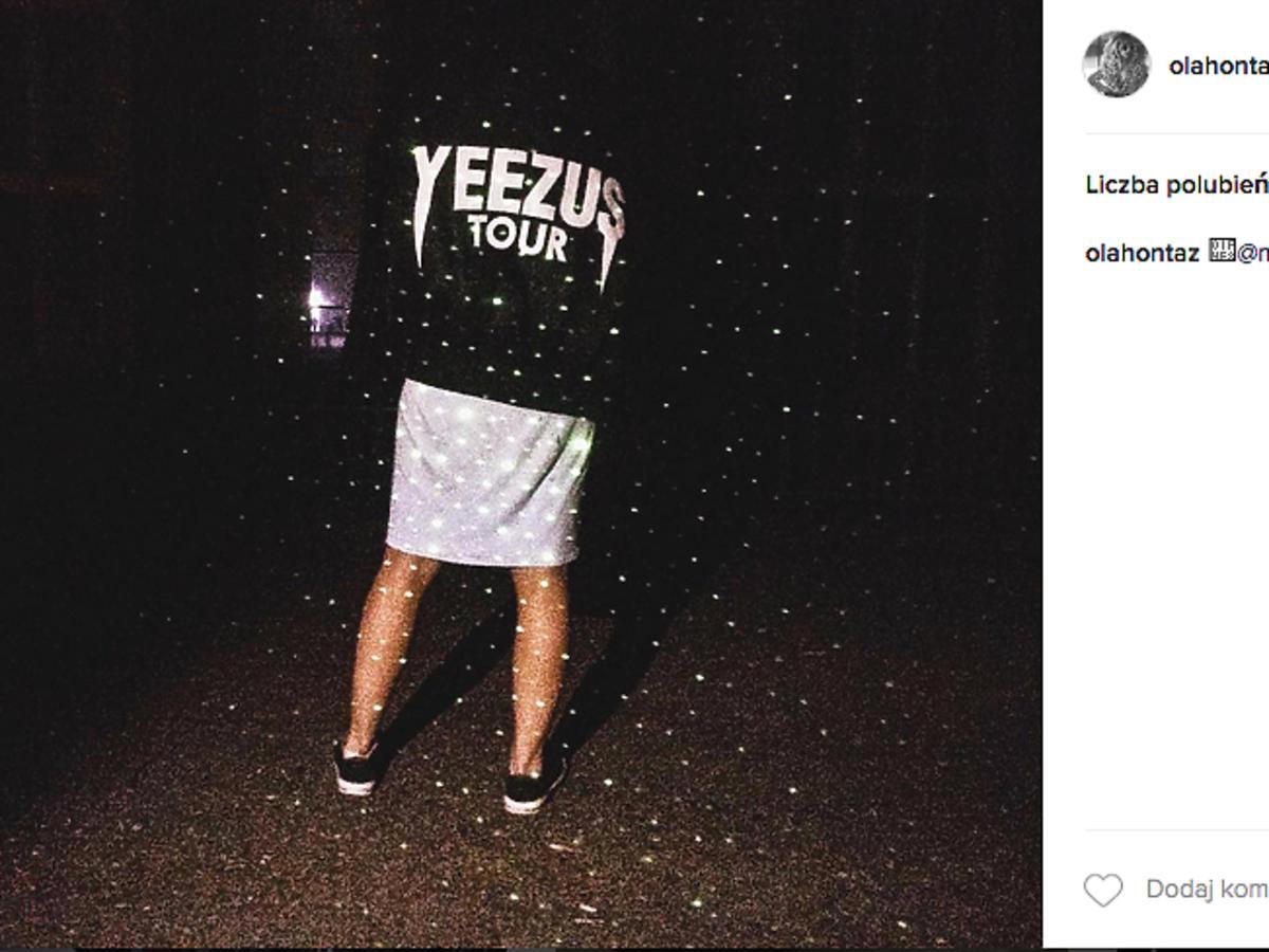 Czarna bluza Kanye Westa