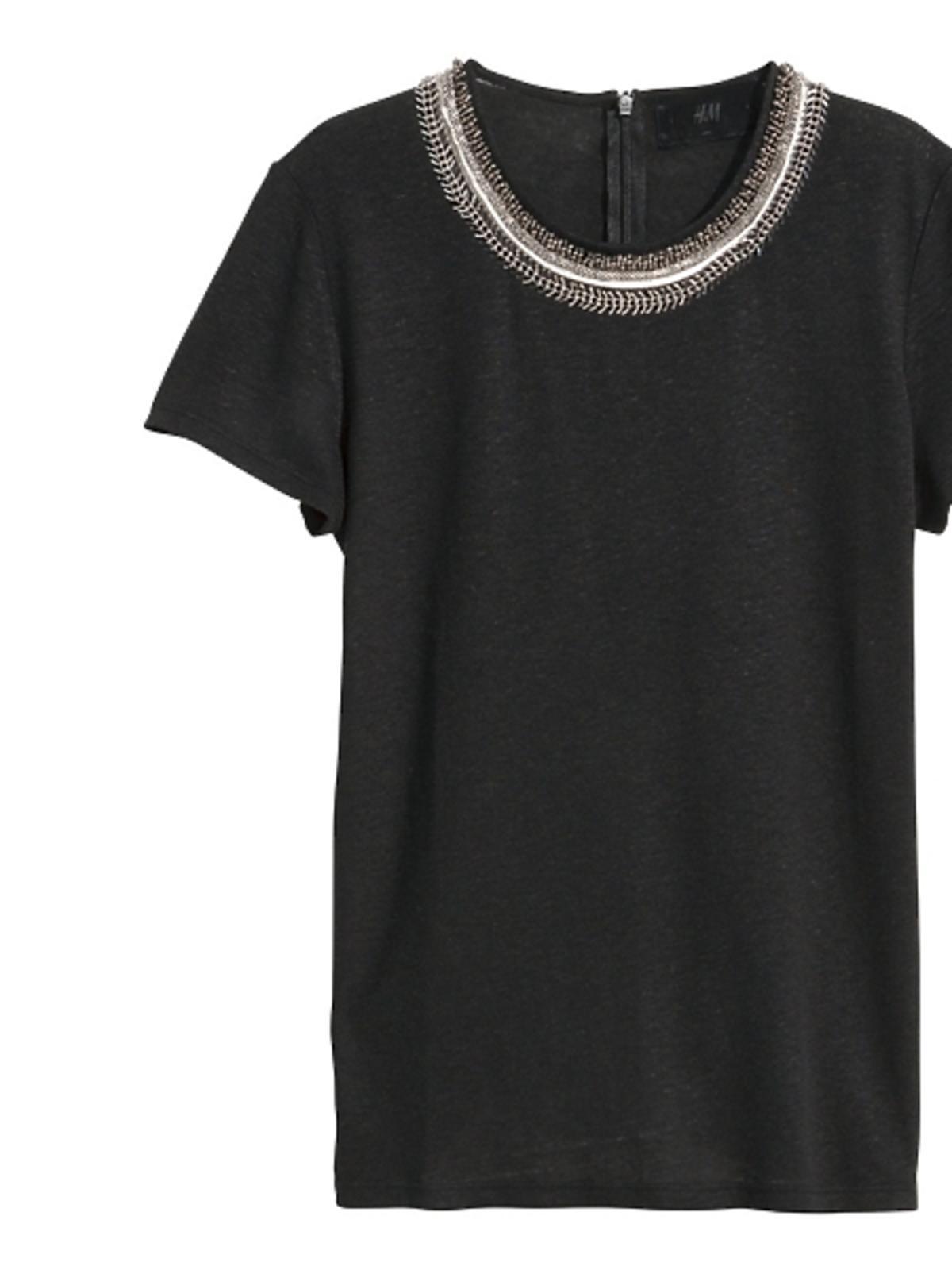 Czarna koszulka H&M, cena