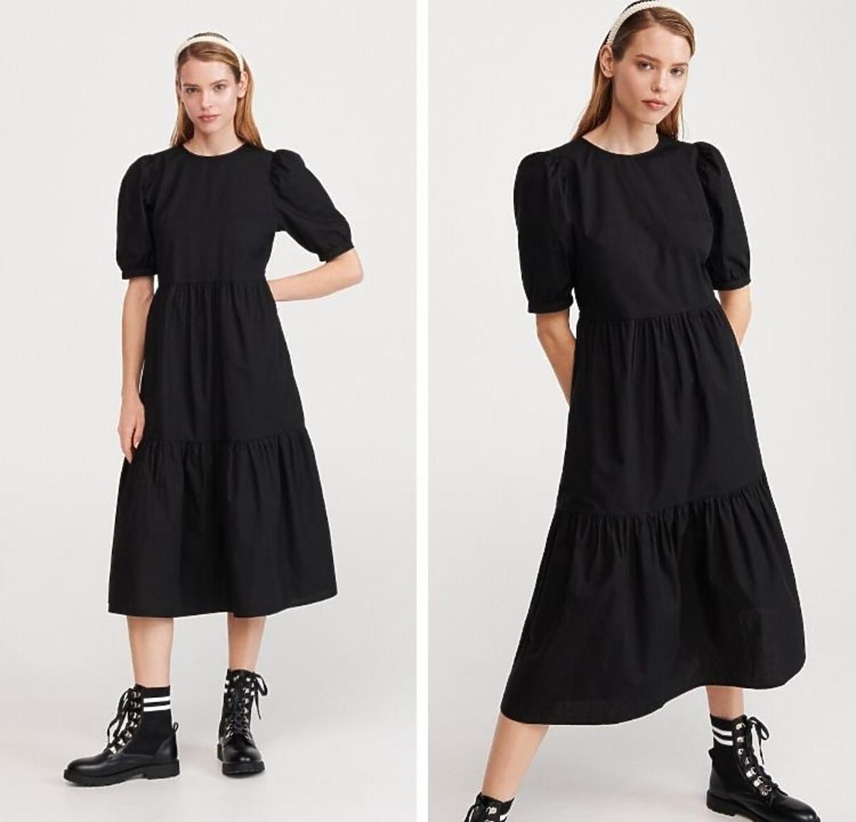 Czarna sukienka wyprzedaż Reserved
