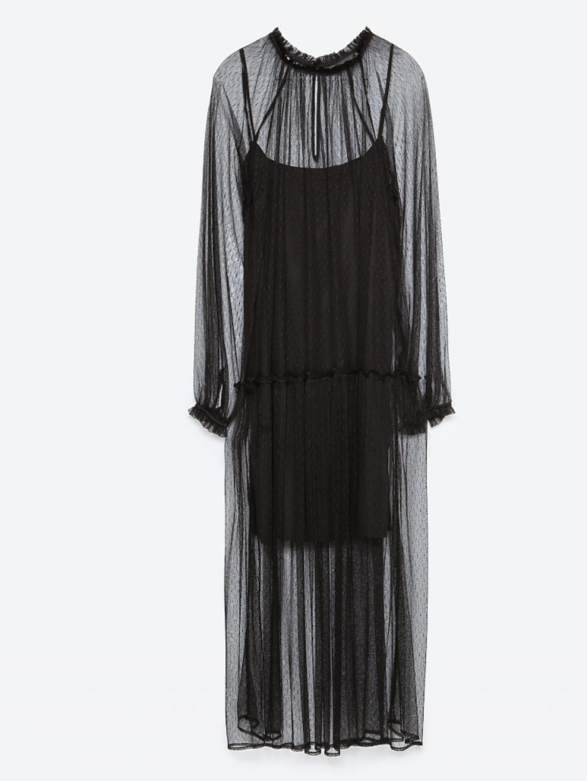 Sukienka z tkaniny plumeti, 99,90 zł (było: 199 zł)