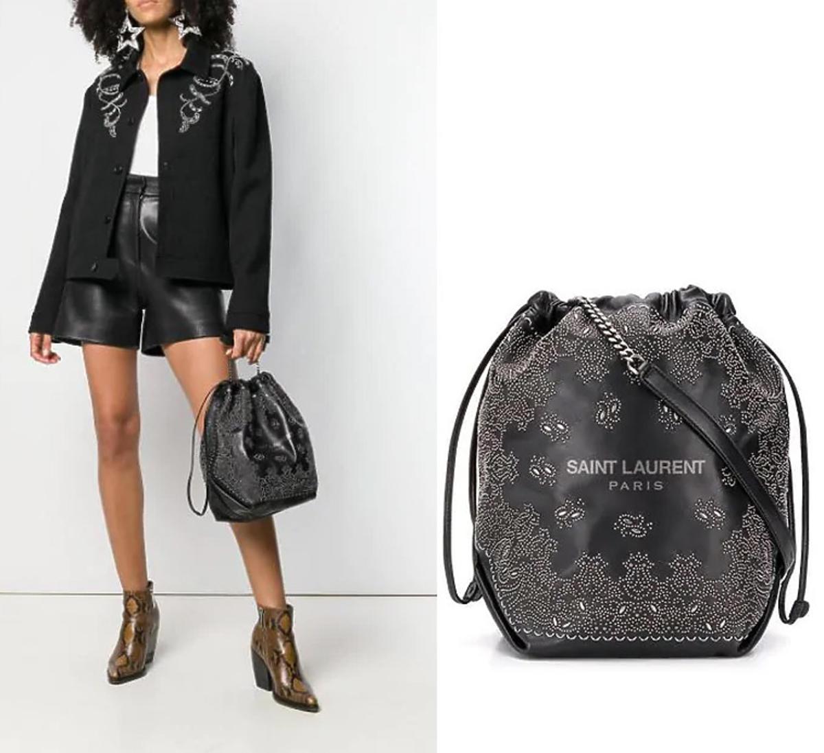 Czarna torebka Saint Laurent, bucket bag, za 9 tys. zł