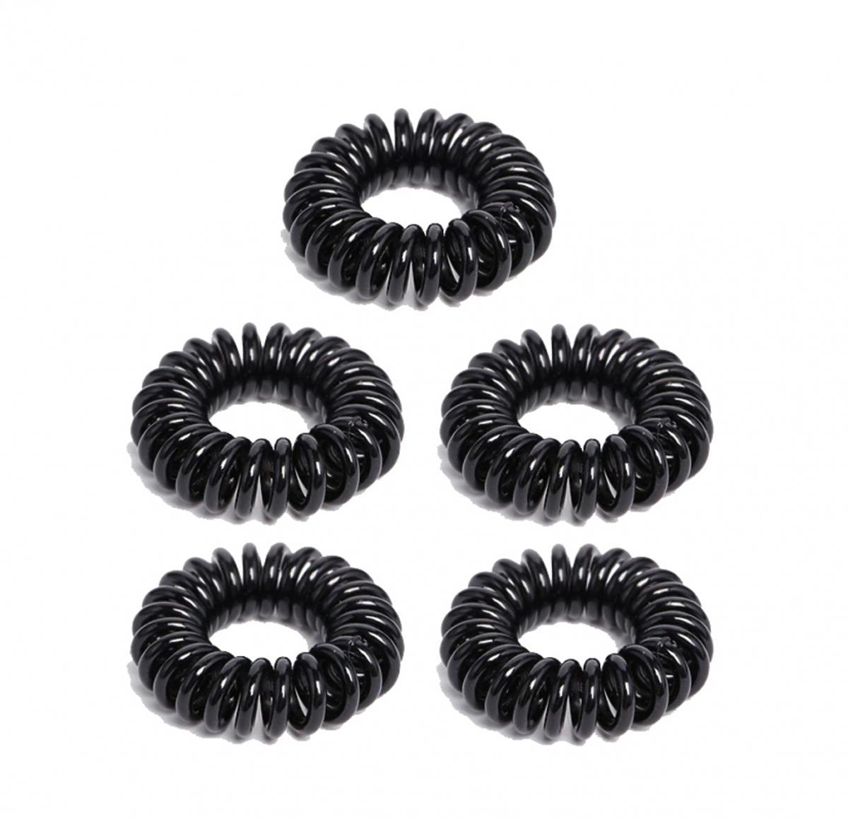 Czarne gumki spiralne
