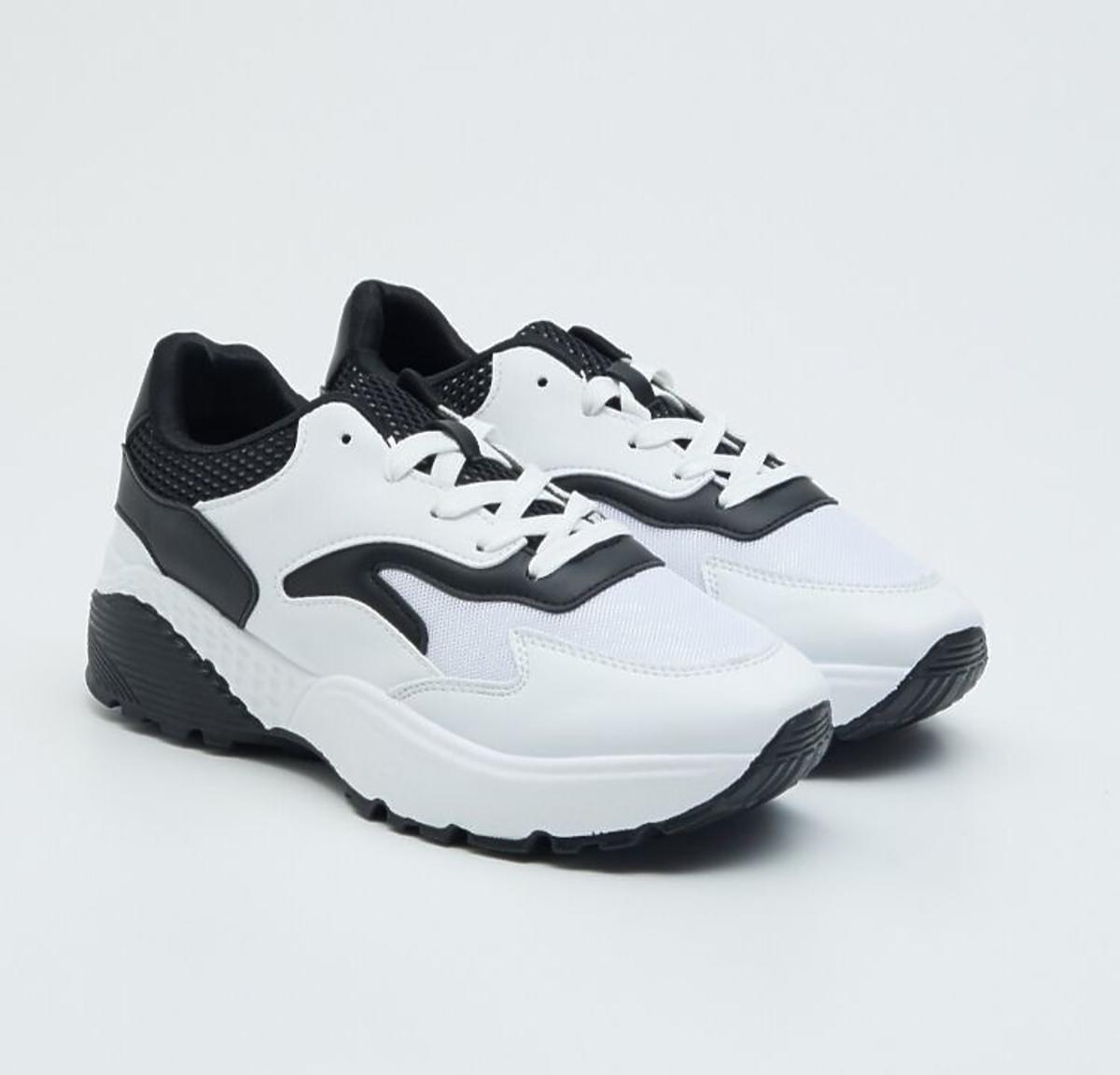 czarno białe sneakersy Sinsay