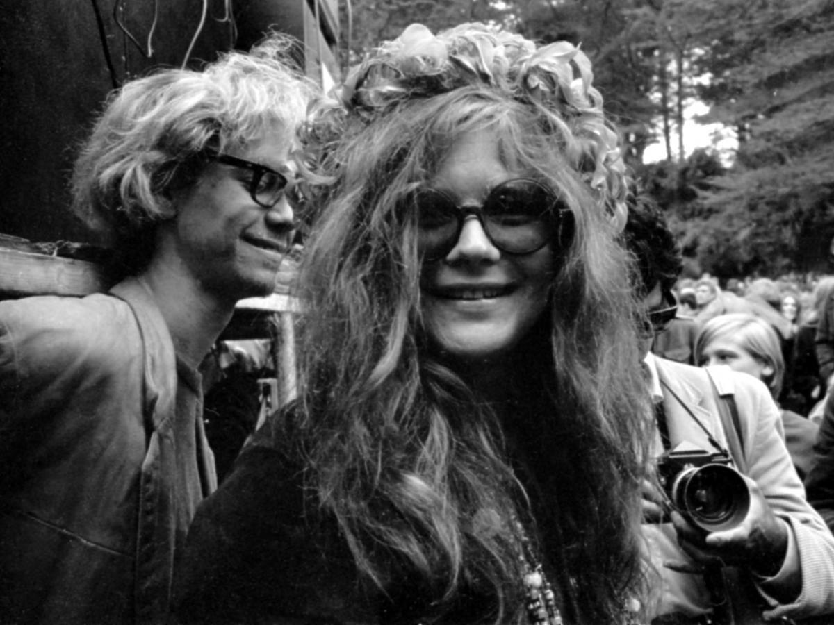Czarno-białe zdjęcie Janis Joplin