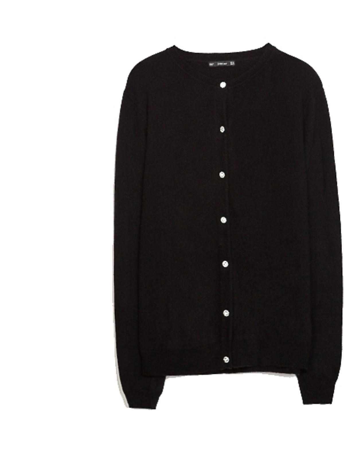 Czarny kardigan Zara, cena