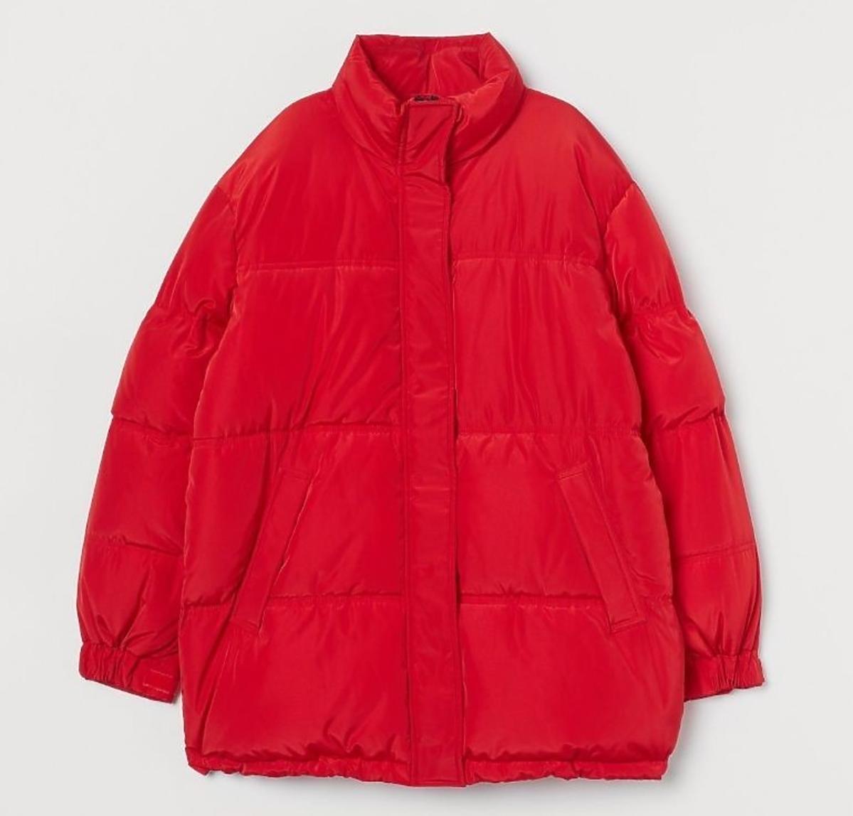 Czerwona pikowana kurtka H&M 79 zł