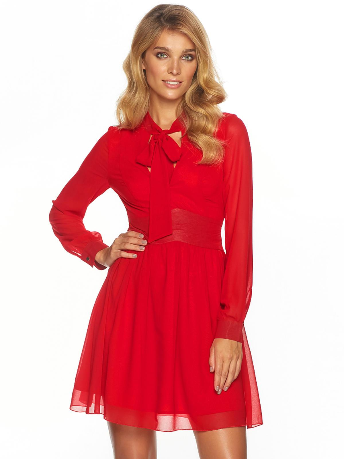 Czerwona sukienka, Sugarfree, przeceniona z 259,00 zł na 175,00 zł
