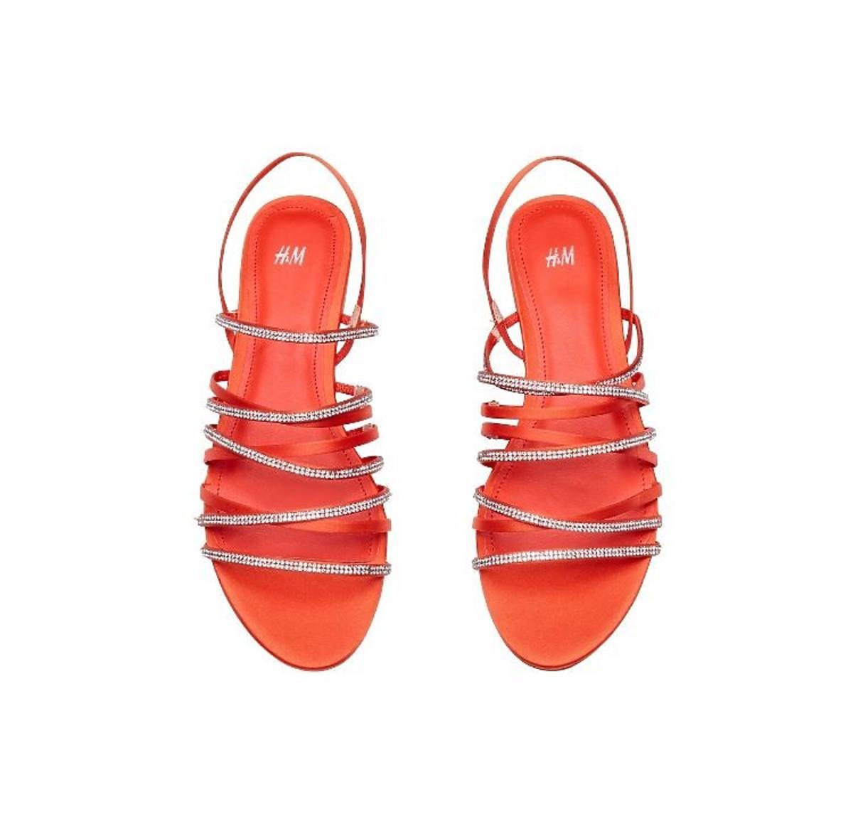 Czerwone sandałki H&M wyprzedaż