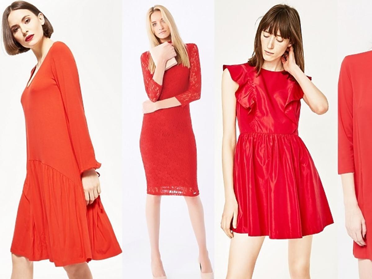 Czerwone sukienki na Walentynki: Zara, Reserved, H&M